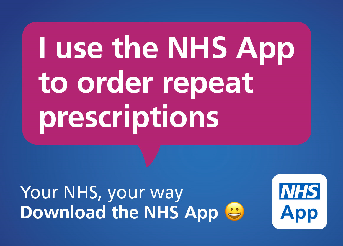NHS app repeat prescription banner